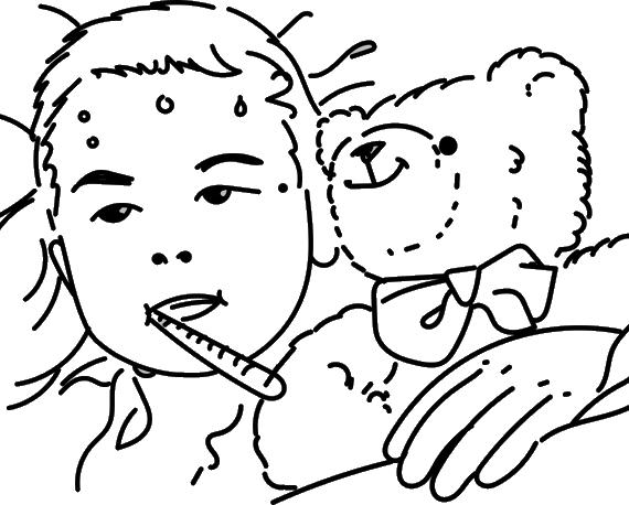 bambino malato