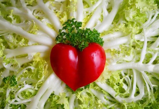insalata con cuore